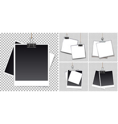 Photoframe template on transparent background vector