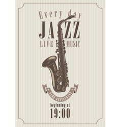 Poster for a jazz vector