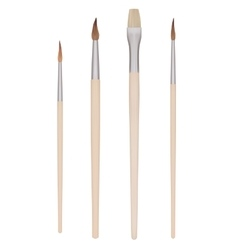 Set of Painting brushes vector image