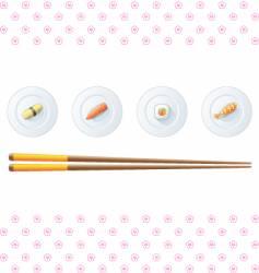 sushi menu template vector image vector image