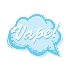 Vape smoke bubble popart style isolated vector