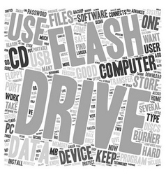Why every pc user should own a flash drive text vector