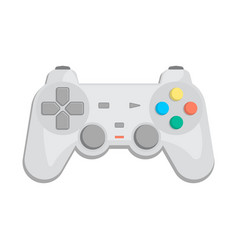 Wireless joypad for game console icon vector