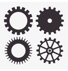 Set gear wheel team work design isolated vector