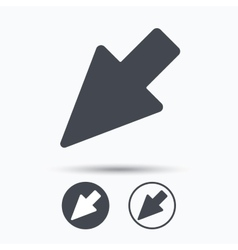 Cursor icon computer position marker sign vector