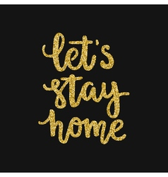 Typo stayhome5 vector