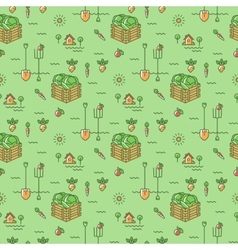 Vegetables garden seamless pattern agriculture vector