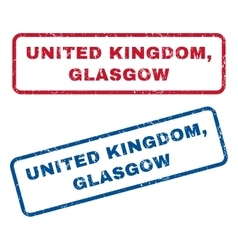 United kingdom glasgow rubber stamps vector