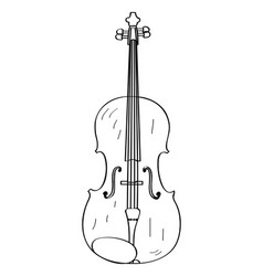 isolated violin outline vector image