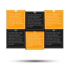paper progress steps for tutorial vector image