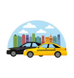 Taxi service public transport vector
