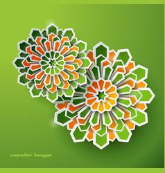 Islamic greeting design geometric background vector