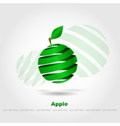 abstract green apple vector image