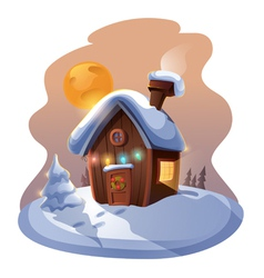 Christmas home vector