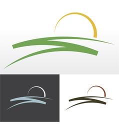 Sunrise symbol design vector