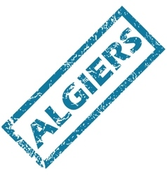Algiers rubber stamp vector