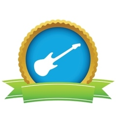 Guitar round icon vector