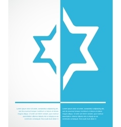 Poster of jewish sign of david star with place for vector