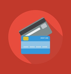 Business flat icon credit card vector