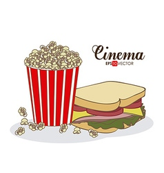 Cinema food design vector