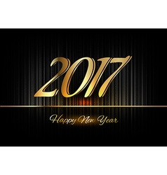 Gold new year 2017 luxury symbol vector