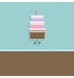 Cute cupcake card vector