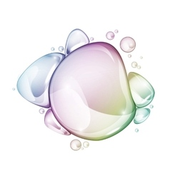 Water drop group rainbow vector