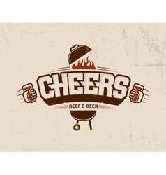 Cheers lettering logo sketch vector