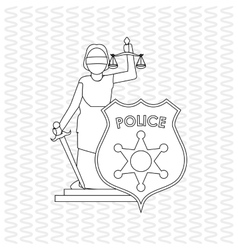 Law and justice sign design vector