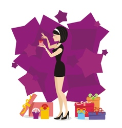 Present for woman 03 vector image