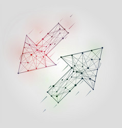 abstract arrows set low poly geometrical figures vector image vector image