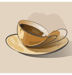 Abstract coffee vector image