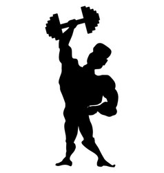 Athlete with dumbbell vector