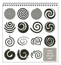 Basic spirals design collection vector