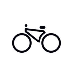 bike icon vector image vector image