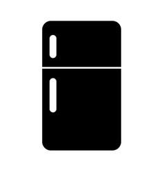 Black fridge graphic design vector