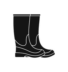Boots icon simple style vector