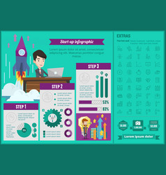 Business start-up infographic template vector