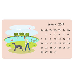 calendar 2018 for january vector image vector image