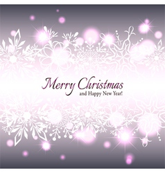 Christmas Star Snowflake Background vector image vector image