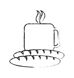 Coffee and pastry icon image vector