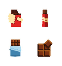 flat icon sweet set of bitter sweet shaped box vector image vector image