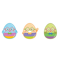 Geek easter egg style vector
