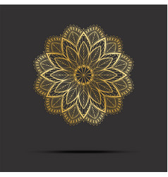 golden mandala oriental pattern with mandala vector image vector image