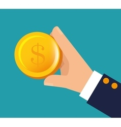 hand holding money financial business vector image