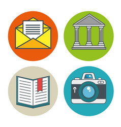 internet security icon set vector image