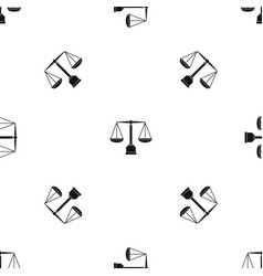 Justice scale pattern seamless black vector