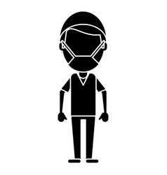 Male surgeon medical professional pictogram vector