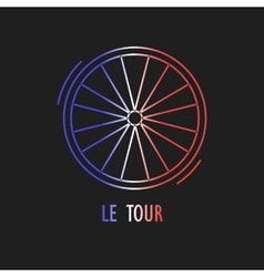 Modern of cycling race emblem vector