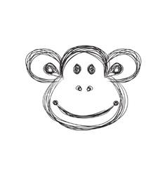 Monkey sketch vector image vector image